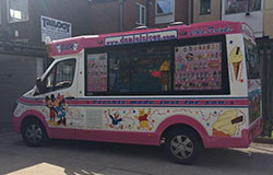 New whitby mercedes Ice cream van
